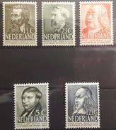 NETHERLANDS - MLH/* - 1939  - CELEBRITY - Yv 318-322 Mi 327-331 -  Lot 15391 - Nuovi