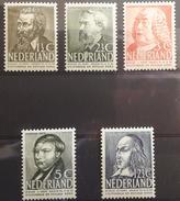 NETHERLANDS - MLH/* - 1939  - CELEBRITY - Yv 318-322 Mi 327-331 -  Lot 15391 - 1891-1948 (Wilhelmine)