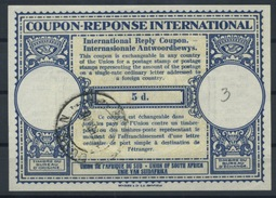 SOUTH AFRICA, 1946 London Type XIIp 5d. International Reply Coupon Reponse IAS IRC Antwortschein  46mm  O DURBAN 1946 - Briefe U. Dokumente
