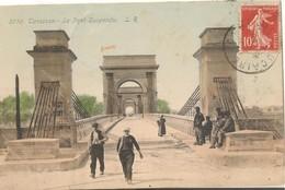 Tarascon: Entrée Du Pont Suspendu 1903 - Tarascon
