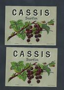 2 ÉTIQUETES CASSIS SURFIN  : - Autres Collections