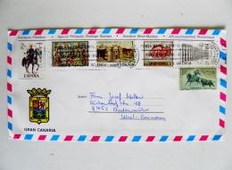 2 Scans Cover Sent From Spain Gran Canaria 6 Post Stamps 1978 - 1931-Hoy: 2ª República - ... Juan Carlos I
