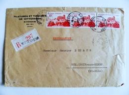 Cover Sent From France 1952 Registered Wittenheim - France