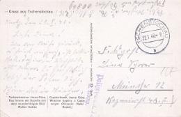 SS Feldpost WW2: Postcard Gruss Aus Tschenstochau (Czestochowa Is Located S Poland) From Stab Polizei-Bataillon 92 FP 00 - Militaria