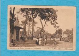 Bassin D'Arcachon ( Gironde ). - Cap Ferret - Notre-Dame Des Flots Et Boulevard Promenade. - Arcachon