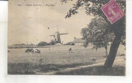 509. Ladon, Paysage (moulin à Vent) - Francia