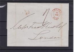Lettre Avec Contenu D ' Anvers Vers Londres 25 Sept 48 - 1830-1849 (Belgique Indépendante)