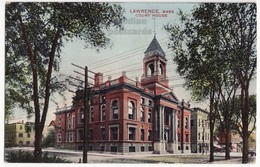 LAWRENCE MASSACHUSETTS MA, COURT HOUSE BUILDING C1910s Vintage Postcard - Lawrence