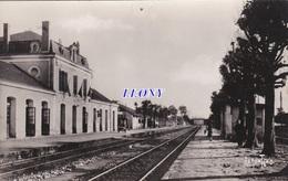 CPSM 9X14 De JONZAC     (17) -  GARE  édit BERGEVIN N° 11733-14771- RAMUNTCHO - Jonzac