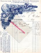 75- PARIS- BELLE FACTURE PEPIN FILS & BROUAND- MANUFACTURE PAPIERS DENTELLES-PEPIN -LECUYER- 5 RUE PERLE- 1912 - France