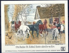 #Denmark 1976. HAFNIA 76 Stamp Exhibition. Bloc. Michel 3. MNH(**)