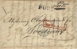 """1858- Lettre De MOSCOU   """"Porto """" + PORTO  + Aus Russland Encadré Entrée Par Valenciennes -taxe 11 D - 1857-1916 Empire"""
