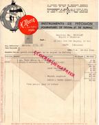 75 - PARIS- FACTURE H. MORIN -INSTRUMENTS PRECISION POUR DESSIN ET BUREAU- INGENIEUR- 11 RUE DULONG- 1941 - France