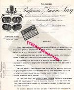 75 - PARIS- FACTURE RAFFINERIE SUCRERIE SAY- SUCRE- 123 BD. DE LA GARE-1912 - France