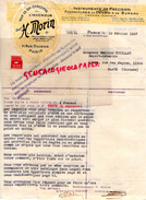75 - PARIS- FACTURE H. MORIN- TOUT CE QUI CONCERNE L' INGENIEUR-INSTRUMENTS PRECISION DESSIN - 11 RUE DULONG- 1927 - France