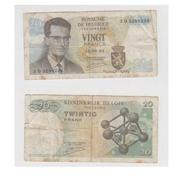 VINGT FRANCS  - 15-06-64 - N 3 O 3298238 - [ 2] 1831-... : Royaume De Belgique
