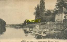 77 Héricy, Le Petit Bras De Seine, Laveuses..., Affranchie 1909 - Autres Communes