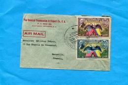 MARCOPHILIE-Lettre-Avion- EQUADOR>-Françe-cad-1938- Guayaquil Exterior-3-stamps-N° PA 58+61 - Ecuador