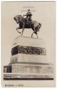 URUGUAY MONTEVIDEO Monumento ARTIGAS - Man On Horse Statue - C1940s Vintage Real Photo Postcard RPPC - Uruguay