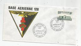 G-I-E , Militaria , Aviation , Meeting National De L'air , 57 , METZ , BASE AERIENNE 128 , Alpha Jet , 31 Mai 1981 - Timbres