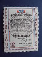 """1964- Timbre N° 1408 Tampon """"1er Jour Appel 18.6.44""""   Cote  10 - Net 3.30 - Oblitérés"""