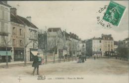 91 - Corbeil - Place Du Marché (colorisée) - Corbeil Essonnes