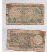 CINCO PESETA - 22 JULIO 1954 - T 4630614 - [ 3] 1936-1975 : Régence De Franco