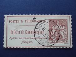 1910-bulletin De Communication N° 26 -oblitéré-(40c Rouge) Abimé Au Milieu, En L'état       1.50 Euros - Télégraphes Et Téléphones