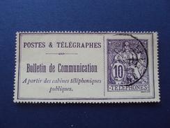 """1910- Bulletin De Communication - Oblitéré, """"10c Violet""""    Bon état            Net   3 Euros - Télégraphes Et Téléphones"""