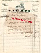 15 - SAINT FLOUR- FACTURE G. DELORME- CONSTRUCTION VOITURES FORGE ET CHARRONNAGE- HOTEL RESTAURANT- FG SAINT FLOUR- 1904 - France