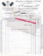 15 - AURILLAC- FACTURE P. TORRESSE & CIE- LAFON-CONORT- MANUFACTURE PARAPLUIES OMBRELLES-PARAPLUIE OMBRELLE- 1938 - France