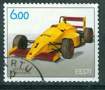 "BM Estland 2001 - MiNr 420 - Used - Rennwagen ""Estonia"" - Estland"