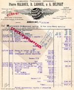 15 - AURILLAC- IMPRIMERIE LIBRAIRIE PAPETERIE- PIERRE MALROUX -B. LABORIE-A. DELPRAT- FABRIQUE CAHIETS POUR ECOLE-1947 - France