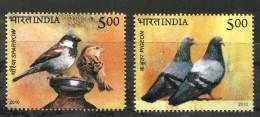 INDIA, 2010, Birds Of India, Set 2 V,  MNH, (**) - Inde
