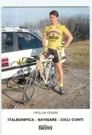 Cesare CIPOLLINI .  Cyclisme. 2 Scans. Italbonifica Navigare 1990 - Radsport