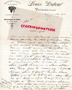 15 - THIEZAC - LETTRE MANUSCRITE SIGNEE LOUIS DUTOUR- FROMAGE FROMAGES-1908 - France