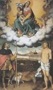 SANTINO - MADONNA CON BAMBINO , S.ROCCO E S.SEBASTIANO - Images Religieuses