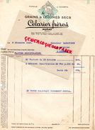 15 - MURAT- FACTURE CELARIER FRERES- LE PERDREAU- GRAINS LEGUMES SECS- A. M. MARATUECH ALIMENTATION CAHORS- 1938 - France