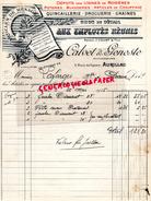 15 - AURILLAC- BELLE FACTURE CALVET & GENESTE- QUINCAILLERIE DROGUERIE GRAINES- USINES ROSIERES-AUX EMPLOYES REUNIS-1935 - France