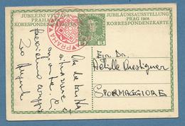 AUSTRIA INTERO POSTALE  5 H. GIUBILEO DA WIEN A SPORMAGGIORE CON ANNULLO SPECIALE ROSSO 2/XII/1908 - 1850-1918 Impero