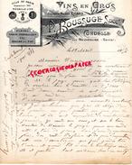15 - AURILLAC- BELLE LETTRE MANUSCRITE  P. BOUSSUGE -RICARD- CORDESSE PAR NEUVEGLISE- VINS -1907- EXPOSITION PARIS 1901 - France