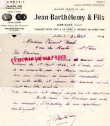 15- AURILLAC- FACTURE JEAN BARTHELEMY & FILS- TANNERIE GANTERIE MEGISSERIE- TANNAGE A LA FOSSE ECORCE CHENE PURE-1944 - France