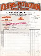 15- AURILLAC- FACTURE ATELIERS RECTIFICATION MASSIF CENTRAL- A. MALANDAIN -RUE PASTEUR- FLOQUET-CULASSES VESUVE-1941 - France