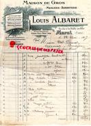 15- MURAT - BELLE FACTURE LOUIS ALBARET-MARTY- MERCERIE BONNETERIE- FACE HALLE AU BLE- 1909 - France