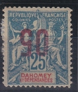 Dahomey 1912 - N°37* Surch.renversée - Unused Stamps