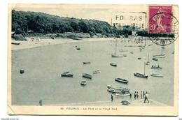 C 24   FOURAS LE PORT ET LA PLAGE Daguin Texte A Gauche - Postmark Collection (Covers)
