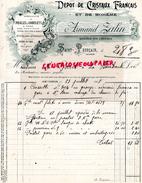 03 - SAINT POURCAIN- BELLE FACTURE DEPOT CRISTAUX FRANCAIS ET BOHEME- ARMAND ZAHN- GRAVEUR- 1908 - France