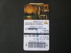 LIBAN LEBANON LIBANO TICKET GROTTO GROTTA JEITA ENTREE ARCHEOLOGIC - Tickets D'entrée