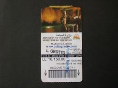 LIBAN LEBANON LIBANO TICKET GROTTO GROTTA JEITA ENTREE ARCHEOLOGIC - Tickets - Vouchers