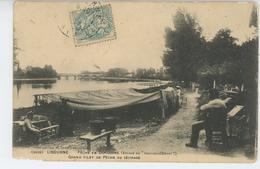 LIBOURNE - Pêche En Dordogne - Grand Filet De Pêche Au Séchage - Libourne